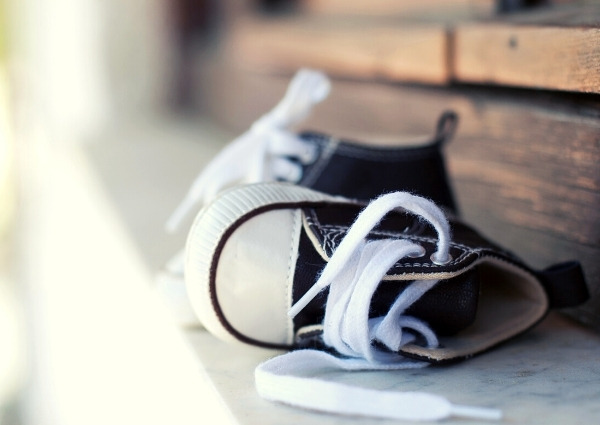 Sneakers enfant : bout large